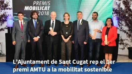 L'Ajuntament de Sant Cugat rep un premi per la seva aposta en mobilitat