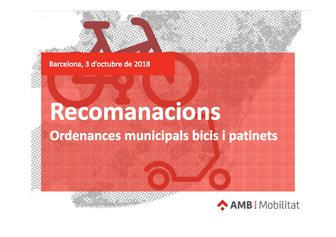 Proposta d'ordenança Bicicletes