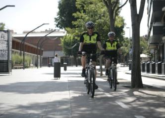 Policies en bici a Sant Cugat el 2014