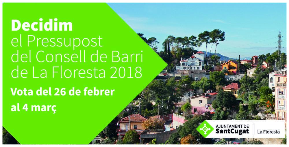 Decidim el pressupost del Consell de Barri de La Floresta 2018