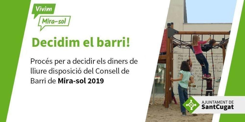 Decidim el pressupost del Consell de Barri de Mira-sol 2019